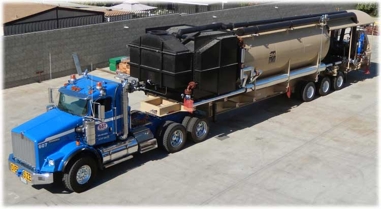 Portable steam generator ready for transport